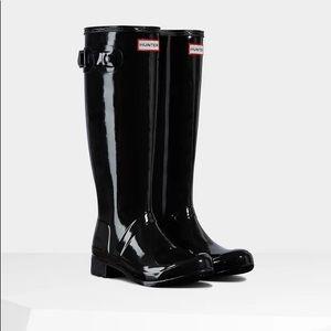 HUNTER OriginalTour Foldable Gloss Tall Rain Boots